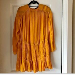 Zara marigold dress